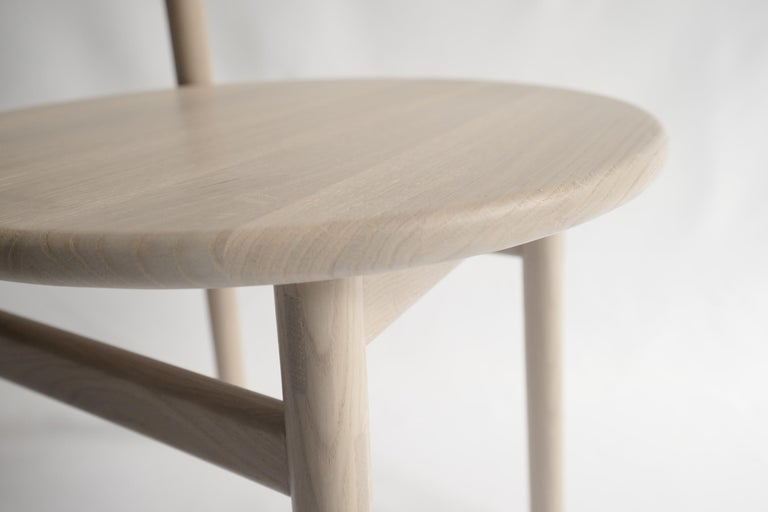 Contemporary Ember Chair by Sun at Six, Nude, Midcentury Chair in Oak For Sale