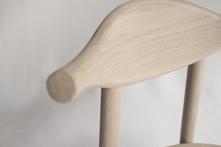 Ember Chair by Sun at Six, Nude, Midcentury Chair in Oak For Sale 1