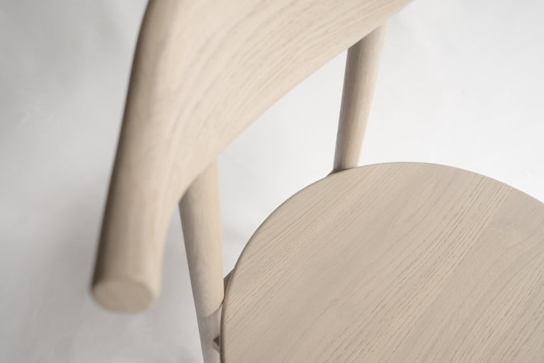 Ember Chair by Sun at Six, Nude, Midcentury Chair in Oak For Sale 2