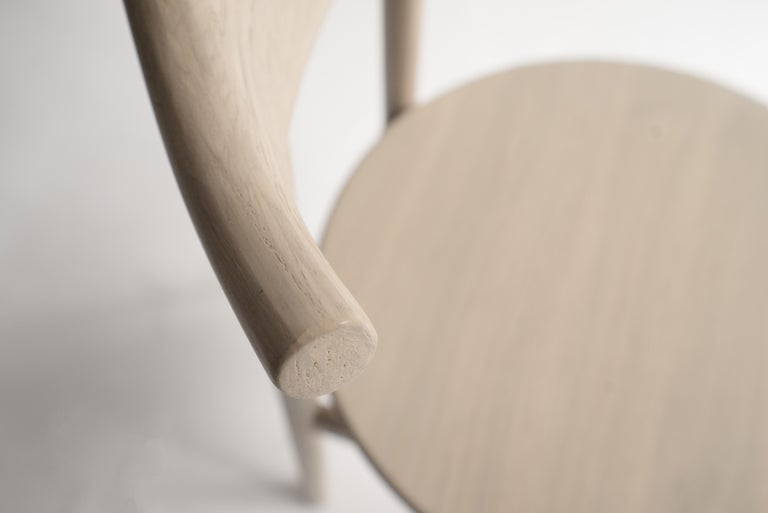 Joinery Ember Chair by Sun at Six, Nude, Midcentury Chair in Oak For Sale