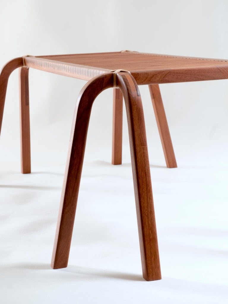 Arts and Crafts Embira Bench from Xingu Collection For Sale
