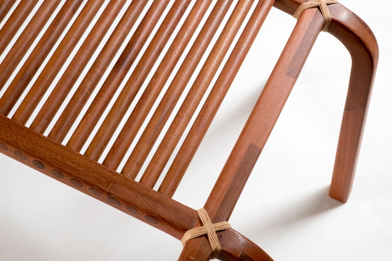 Brazilian Embira Bench from Xingu Collection For Sale