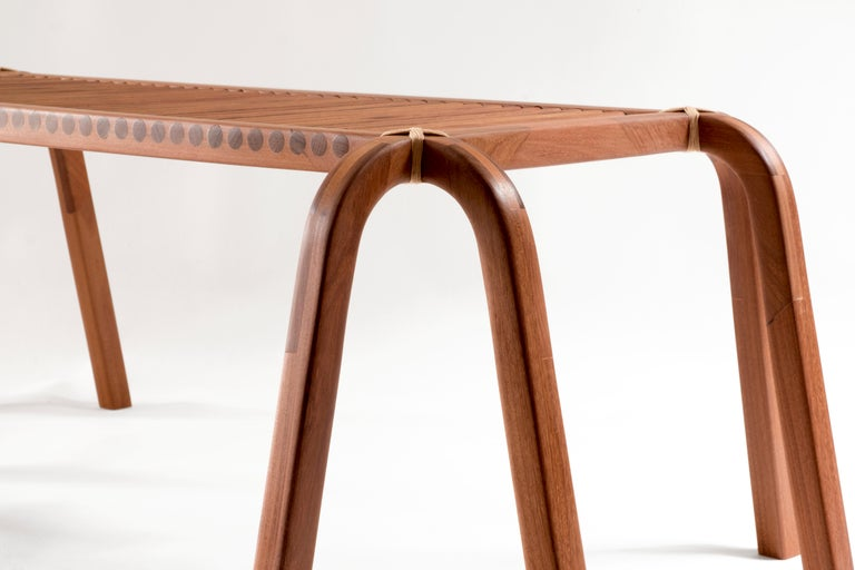 Woodwork Embira Bench from Xingu Collection For Sale
