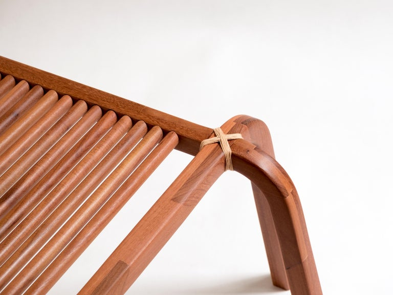 Contemporary Embira Bench from Xingu Collection For Sale