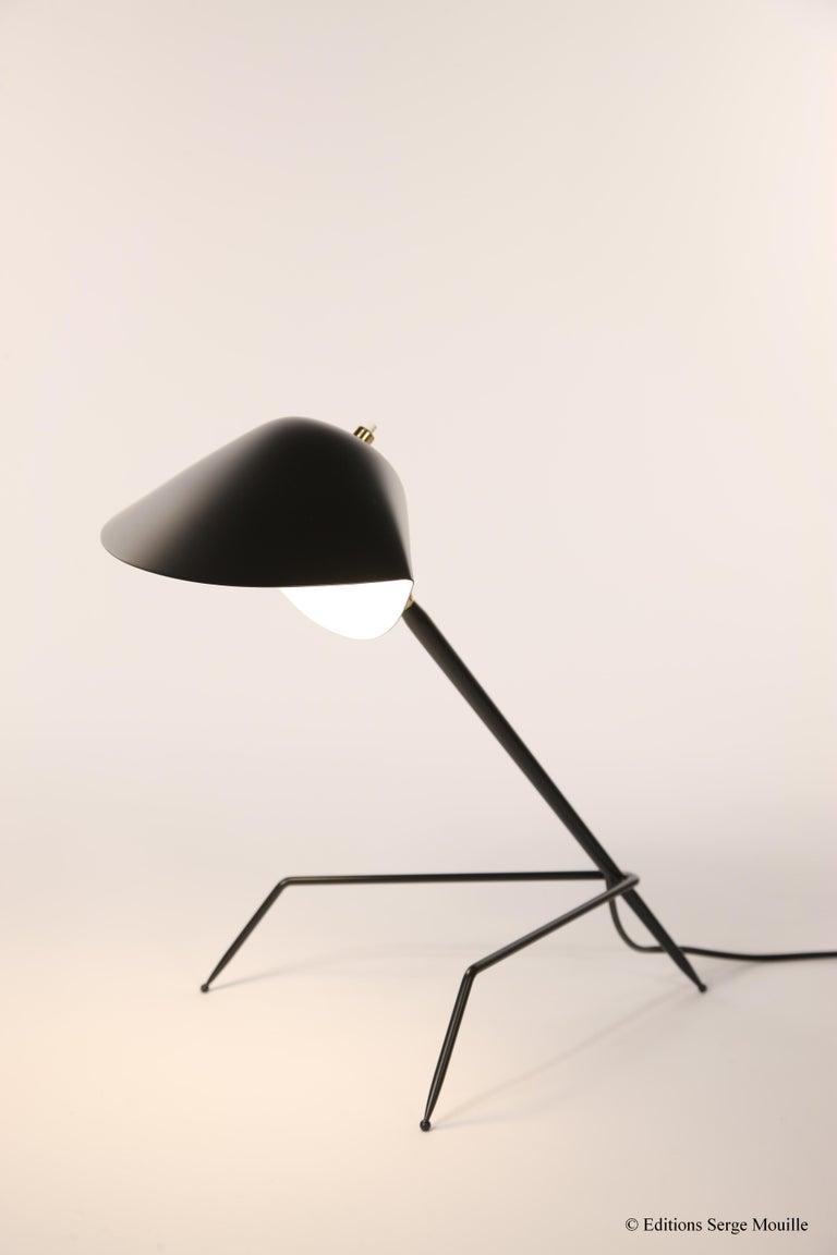 Mid-Century Modern Emblamatic Serge Mouille Tripod Desk Lamp Table Lamp For Sale