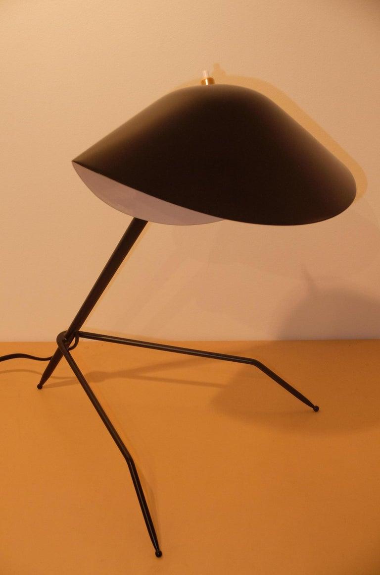 Contemporary Emblamatic Serge Mouille Tripod Desk Lamp Table Lamp For Sale