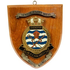 Emblem Dedicated to the Ship MHS Chichester Hong Kong, 1970s