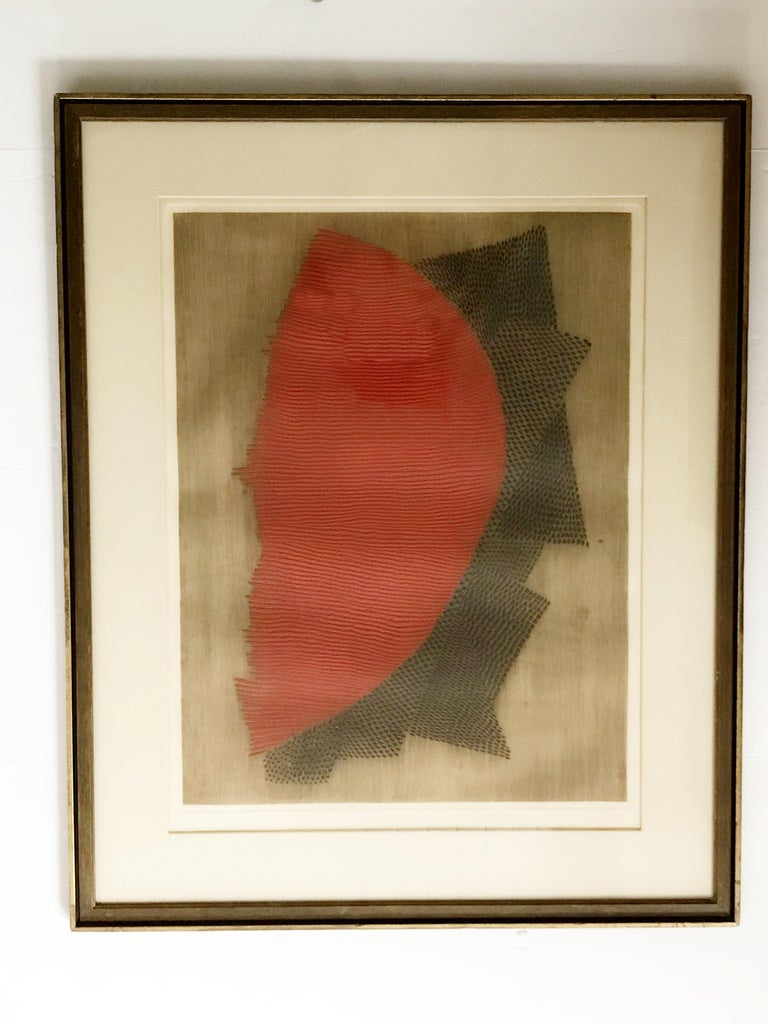 Colorful embossed etching by Arthur Luiz Piza, entitled
