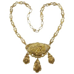 Embossed Gold Necklace
