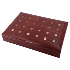 Embossed Leather Jewelry Box by Swank Made in Sweden Design by Philippe