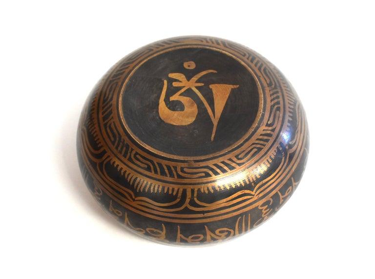Singing Bowl Set Embossed Tibetan For Sale 7