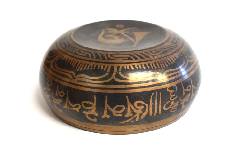 Singing Bowl Set Embossed Tibetan For Sale 8