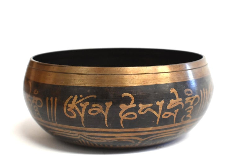 Singing Bowl Set Embossed Tibetan For Sale 9