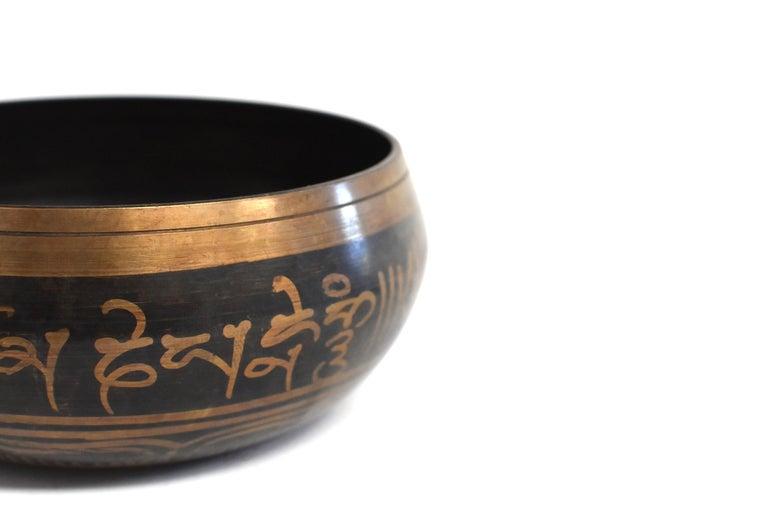 Singing Bowl Set Embossed Tibetan For Sale 11