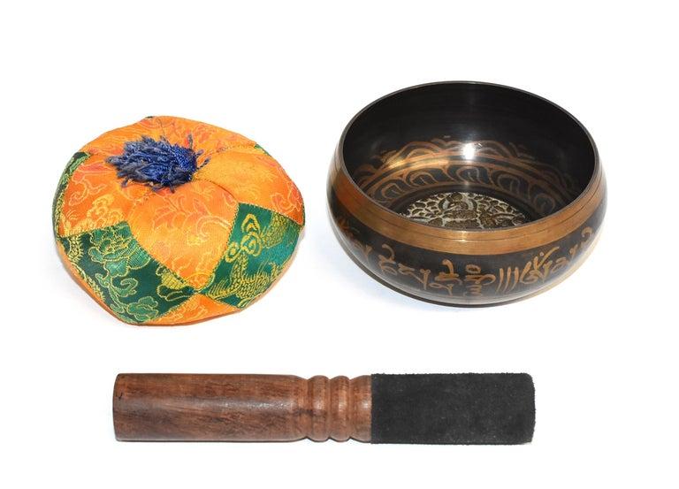 Singing Bowl Set Embossed Tibetan For Sale 12