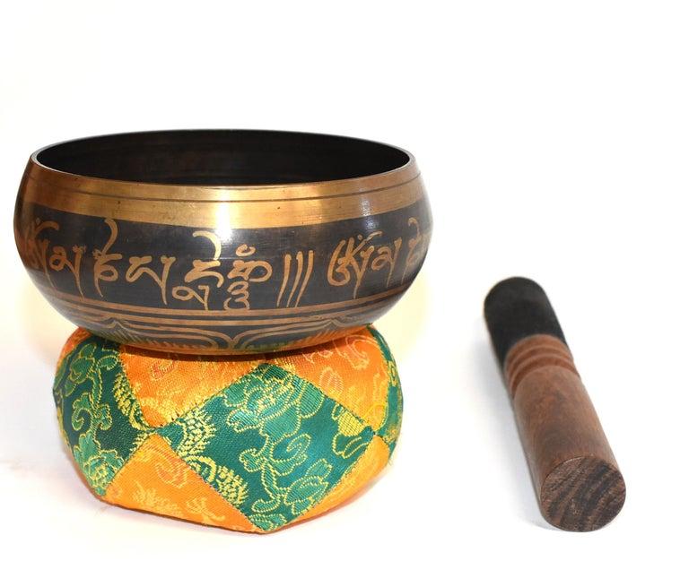Singing Bowl Set Embossed Tibetan For Sale 1