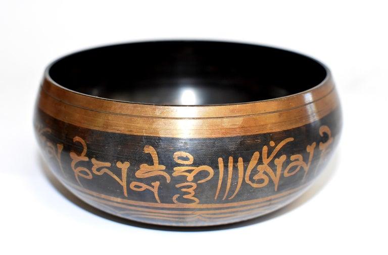 Singing Bowl Set Embossed Tibetan For Sale 3
