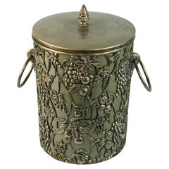 Embossed Vines and Grapes Ice Bucket