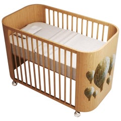 Embrace Adventure Crib in Natural Beech Wood by MISK Nursery