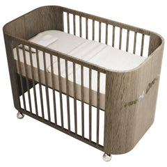Embrace Dreams Crib in French Grey Wood by MISK Nursery