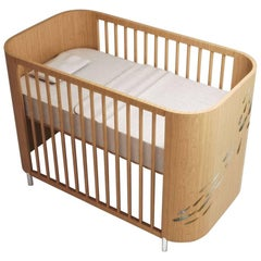 Embrace Luck Crib in Natural Beechwood by MISK Nursery