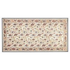 Vintage Mounted African Cloth with Embroidered Animals