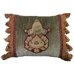 Embroidered Appliqued Velvet Pillow by Melissa Levinson