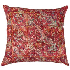 Embroidered Block Print Pillow