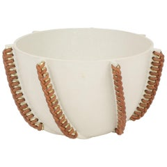 Embroidered Decorative Ceramic Bowl, Gladiateur #21