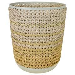 Embroidered Decorative Ceramic Vase, Gladiateur #80