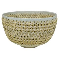 Embroidered Decorative Ceramic Vase, Gladiateur #89