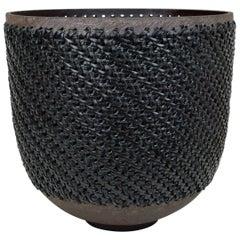 Embroidered Decorative Ceramic Vase, Gladiateur #96