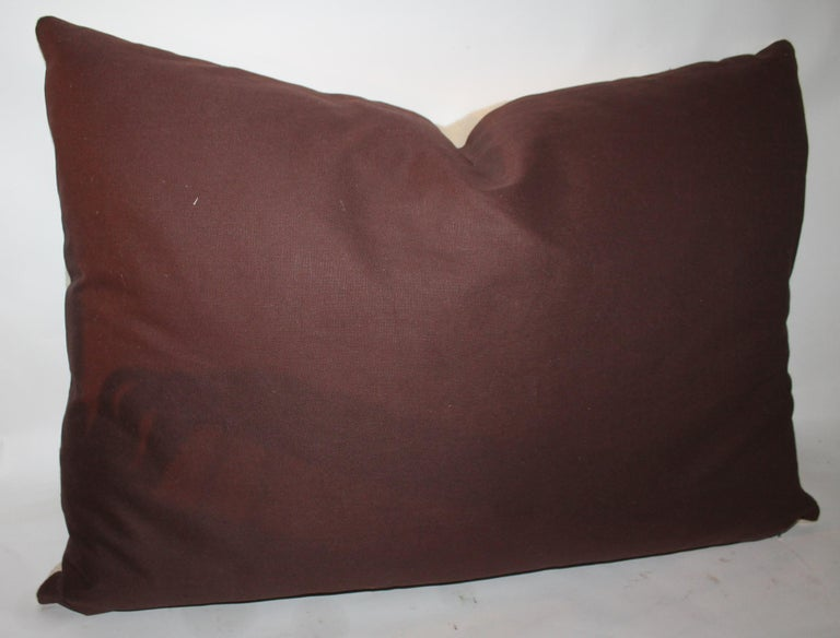 Embroidered Eagle Pillow With Linen Backing For Sale 1