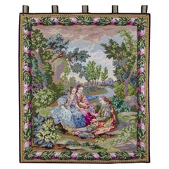 Embroidered Rococo Style Wall Hanging Tapestry