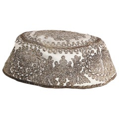 Embroidered Silver Middle Eastern Antique Hat
