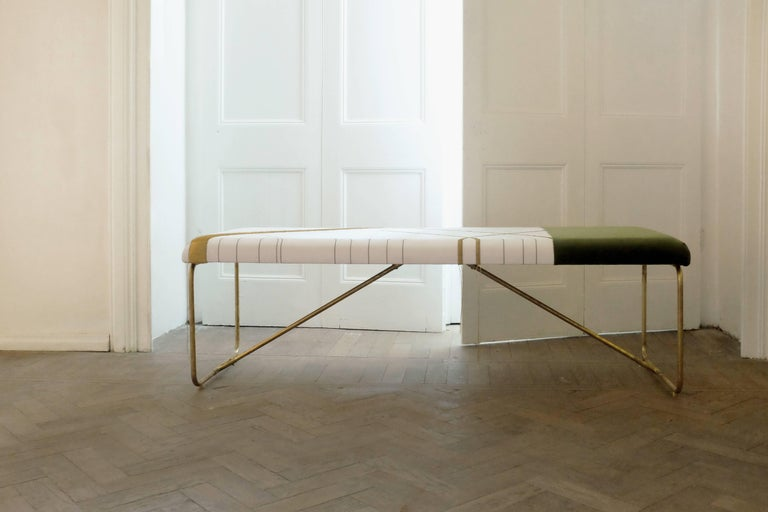 Embroidery Brass Bench, Rooms In New Condition In Geneve, CH