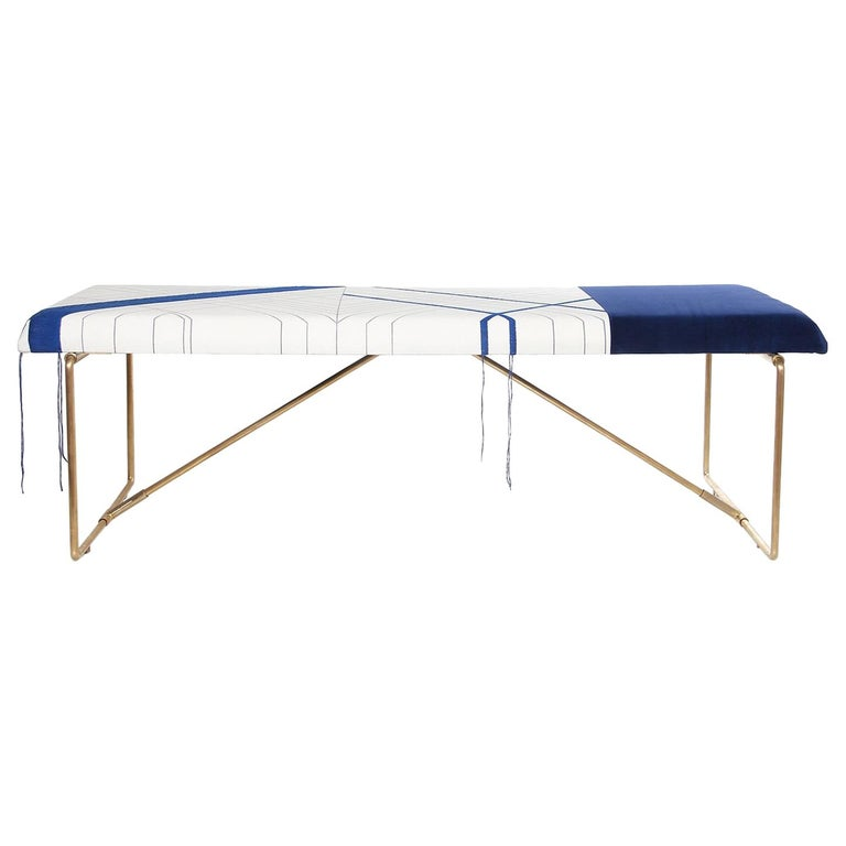 Embroidery Brass Bench, Rooms