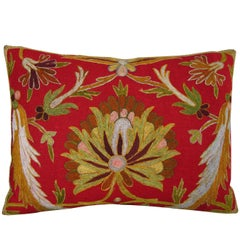 Embroidery Indian Pillow, circa 1800 1545p