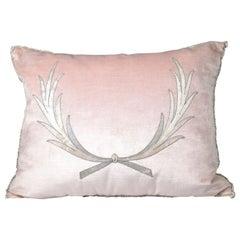 Embroidery Pillow, Antique Trim