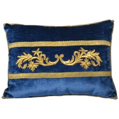 Embroidery Pillow, Antique Trim