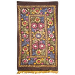 Embroidery Suzani with Floral Design and Beautiful Vivid Colors