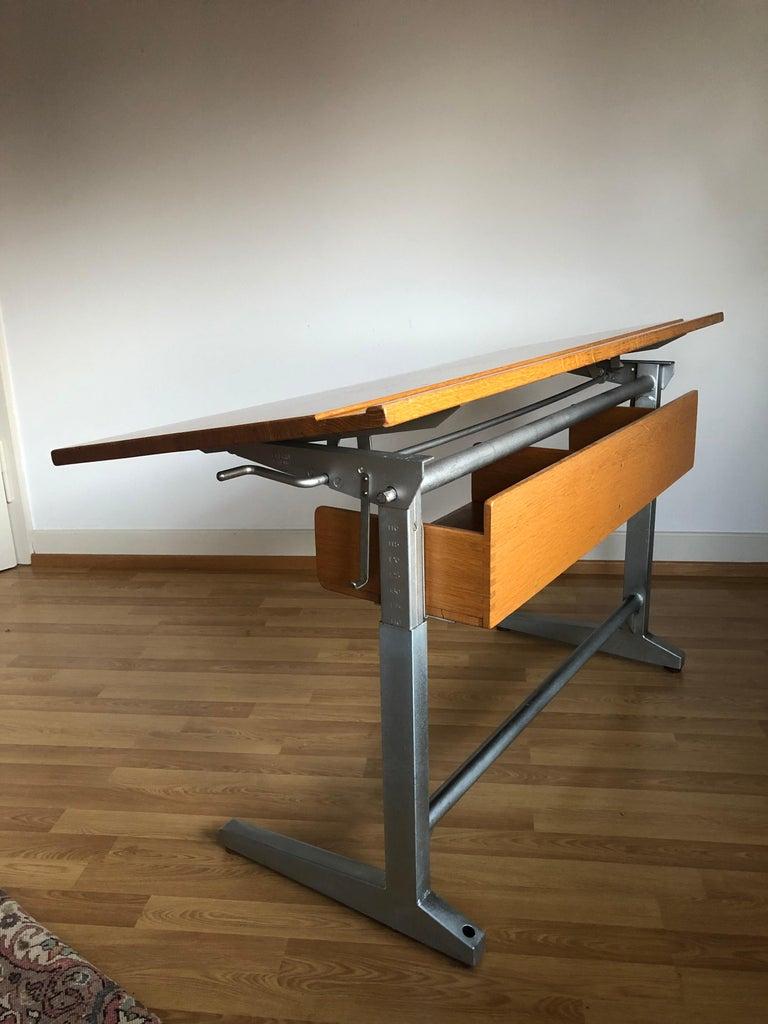 Embru Patent 1989 Swiss Made Authentic School Desk