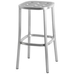 Emeco 1 Inch All Aluminum Barstool by Jasper Morrison, 1stdibs Exclusive