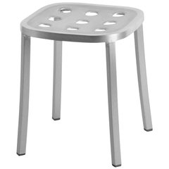 Emeco 1 Inch All Aluminum Small Stool by Jasper Morrison, 1stdibs Exclusive