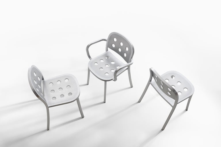 Emeco 1 Inch All Aluminum Stacking Chair by Jasper Morrison, 1stdibs Exclusive For Sale 4