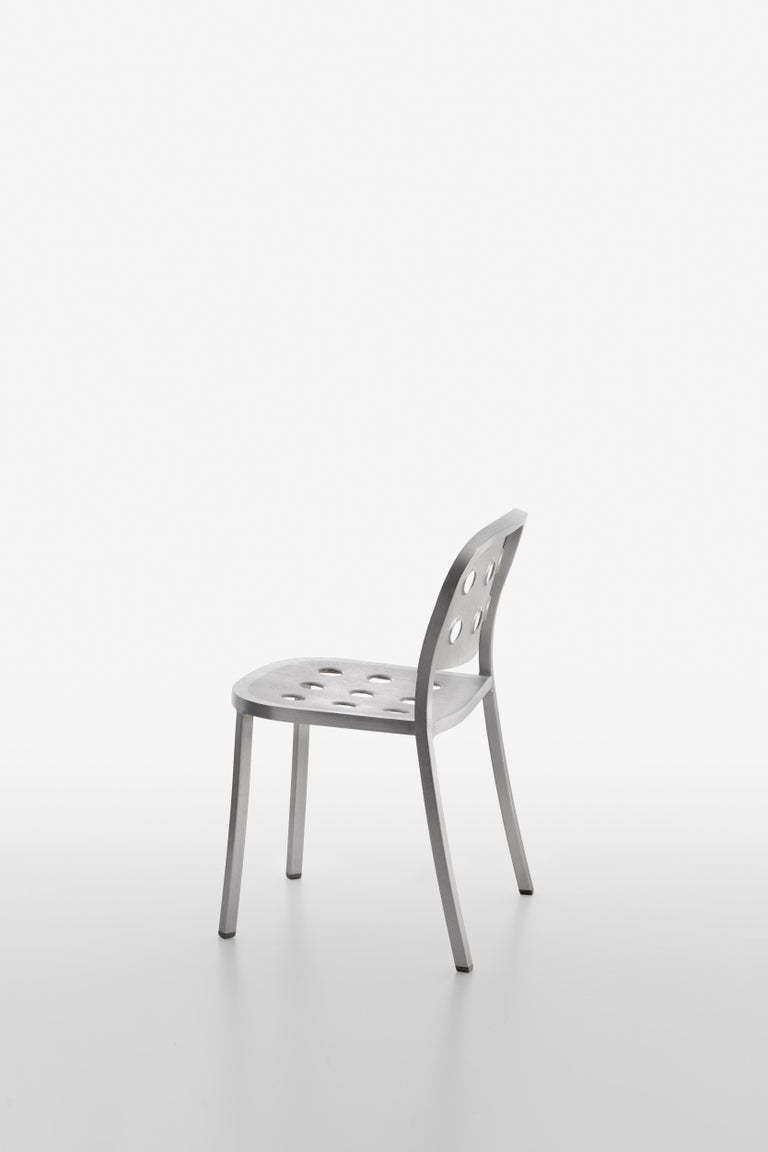 Modern Emeco 1 Inch All Aluminum Stacking Chair by Jasper Morrison, 1stdibs Exclusive For Sale