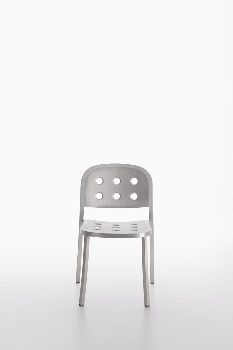 American Emeco 1 Inch All Aluminum Stacking Chair by Jasper Morrison, 1stdibs Exclusive For Sale