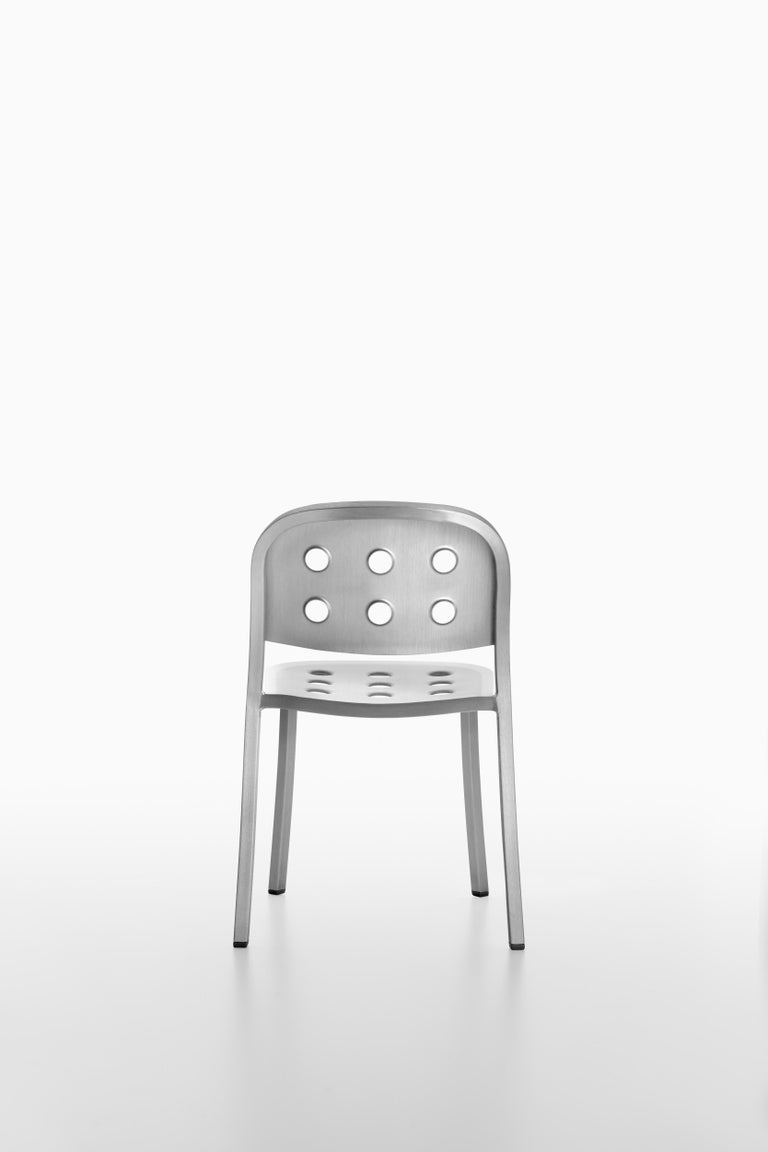 Emeco 1 Inch All Aluminum Stacking Chair by Jasper Morrison, 1stdibs Exclusive In New Condition For Sale In Hanover, PA