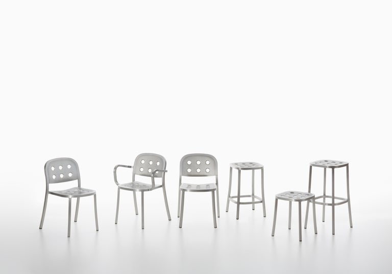 Contemporary Emeco 1 Inch All Aluminum Stacking Chair by Jasper Morrison, 1stdibs Exclusive For Sale