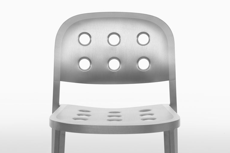 Emeco 1 Inch All Aluminum Stacking Chair by Jasper Morrison, 1stdibs Exclusive For Sale 1